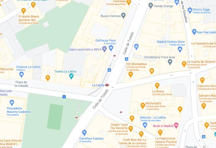 Madrid Centro - Map